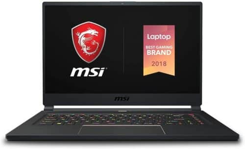 MSI GS65-A best laptop for machine learning